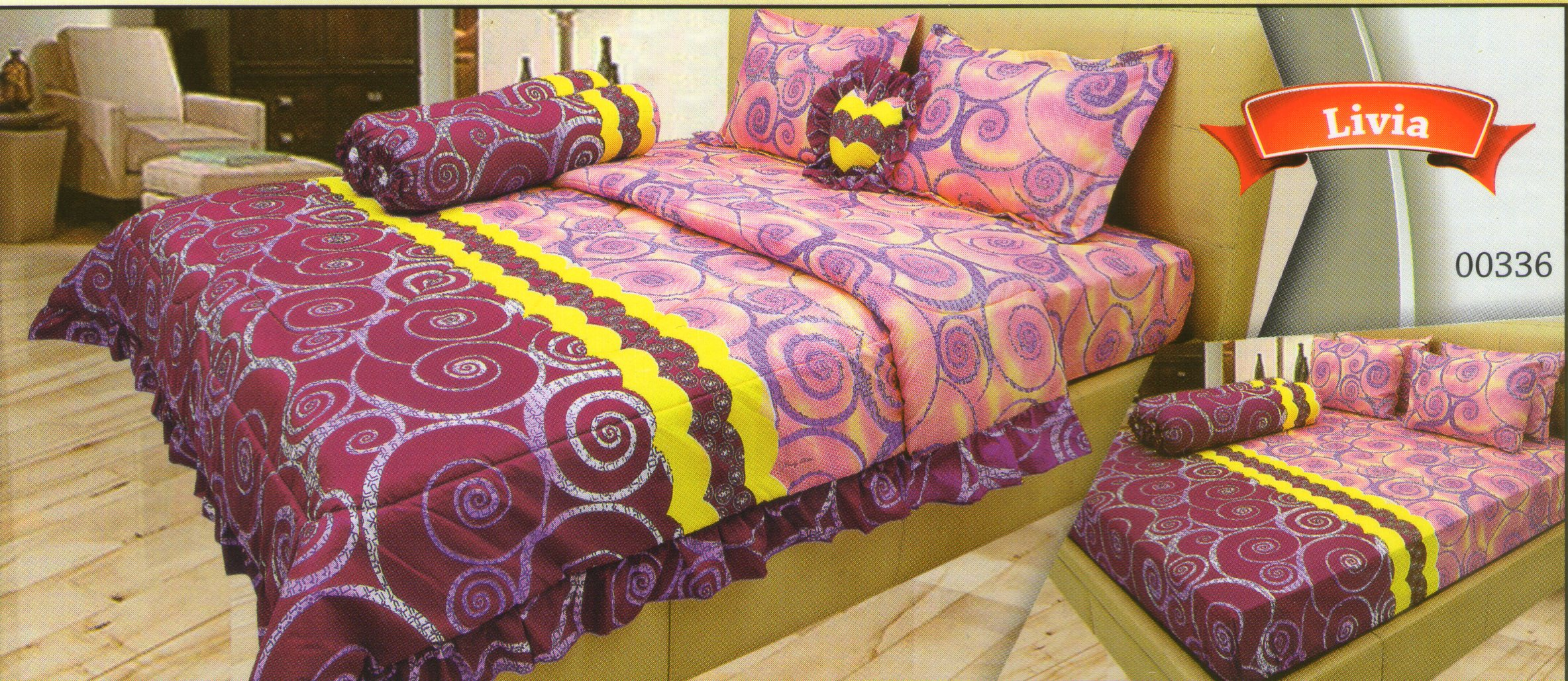 harga bedcover lady rose
